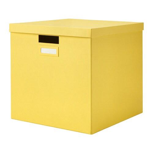 tjena kasten mit deckel gelb ikea. Black Bedroom Furniture Sets. Home Design Ideas