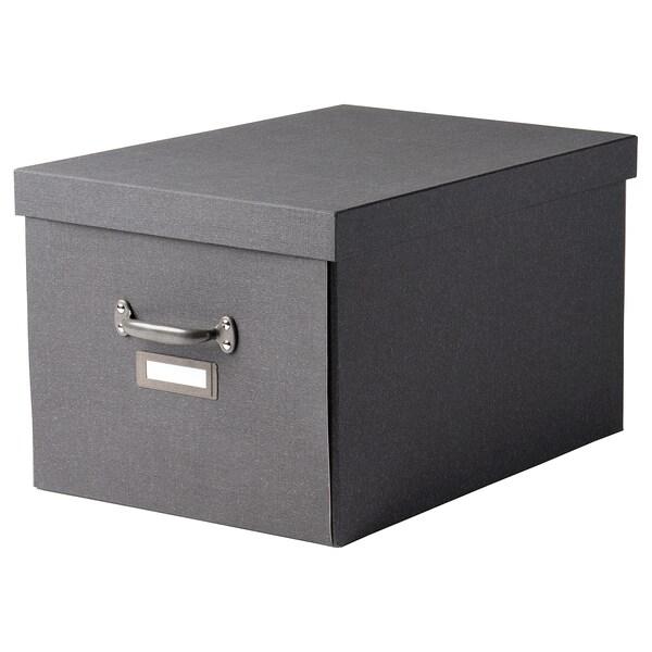 TJOG Kasten mit Deckel, dunkelgrau, 35x56x30 cm