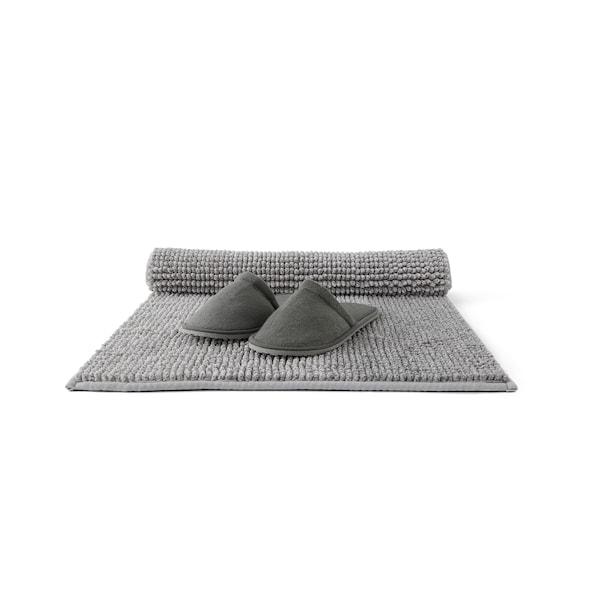 TOFTBO Badematte, grauweiß meliert, 50x80 cm