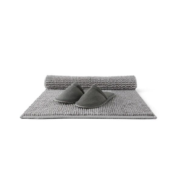 TOFTBO Badematte grauweiß meliert 80 cm 50 cm 0.40 m² 1410 g/m²