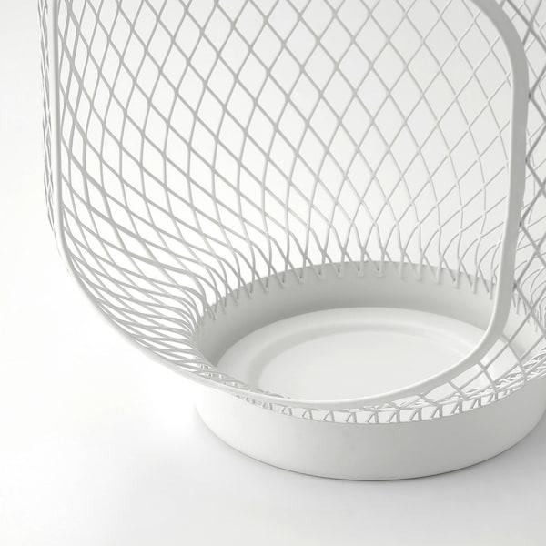 TOPPIG Laterne für Blockkerze, weiß, 22 cm