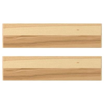TORHAMN Schubladenfront naturfarben Esche 39.7 cm 10 cm 40 cm 9.7 cm 2.0 cm 2 Stück