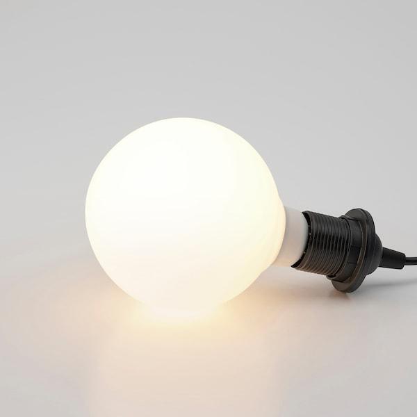 TRÅDFRI LED-Leuchtmittel E27 470 lm, kabellos dimmbar Weißspektrum/rund Frostglas weiß