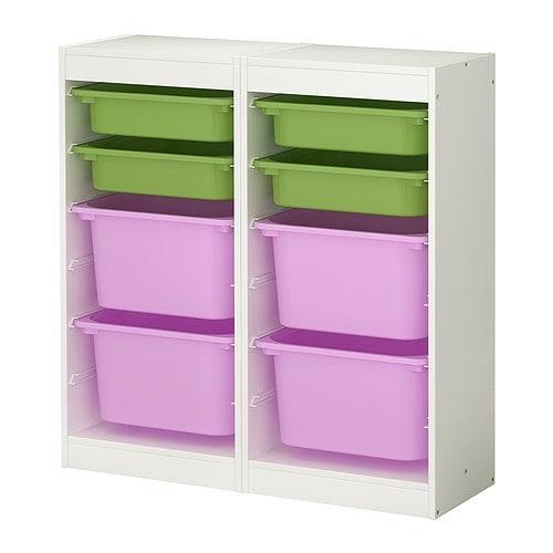 Ikea Eckschrank Tür Zusammenbauen ~ TROFAST Aufbewahrungskombi Es liegen ausreichend Schienen bei, um