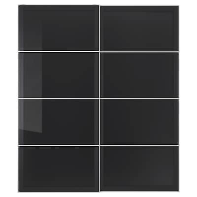 UGGDAL Schiebetürpaar graues Glas 200 cm 236 cm 8.0 cm 2.3 cm