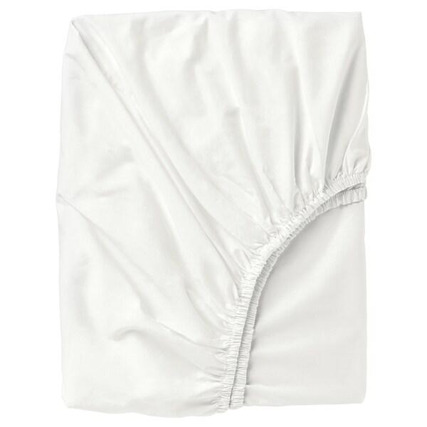 ULLVIDE Spannbettlaken, weiß, 90x200 cm
