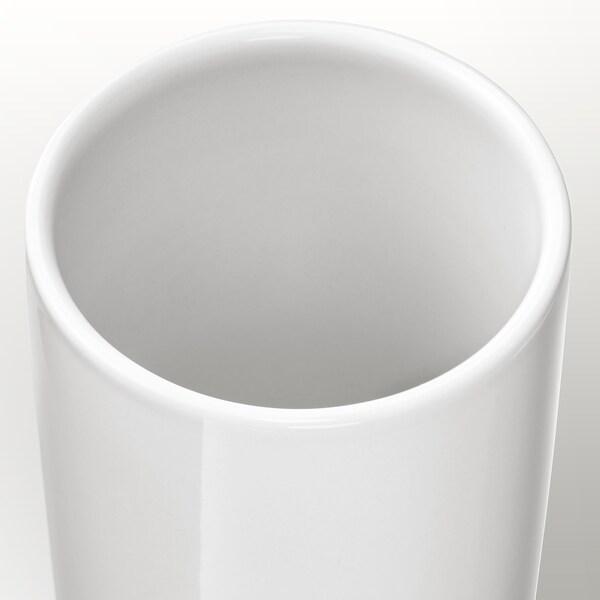 UPPVAKTA Vase weiß/naturfarben 21 cm