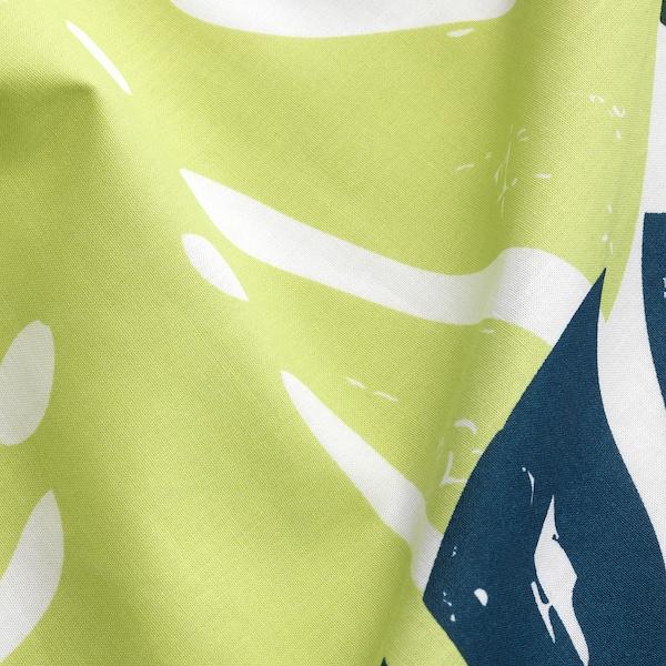 URSKOG 2 Gardinen + Raffhalter grün 300 cm 120 cm