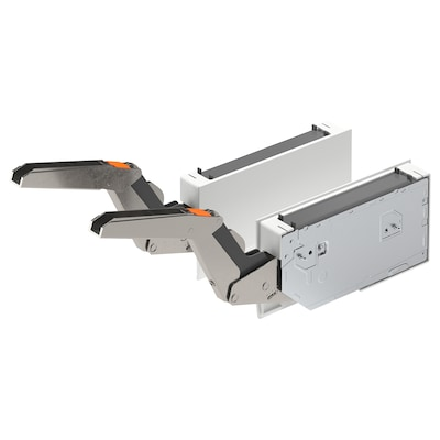 UTRUSTA Druckscharnier horizontale Tür, weiß