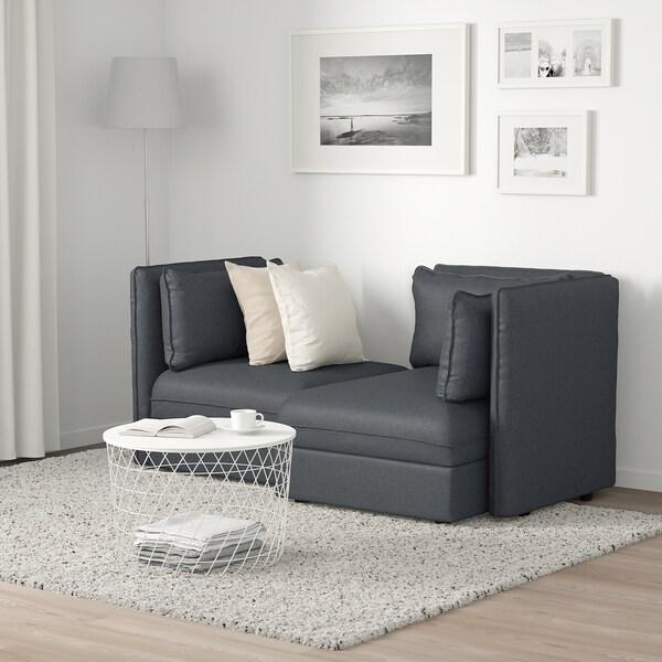 VALLENTUNA 2er-Sitzelement mit Stauraum/Hillared dunkelgrau 186 cm 113 cm 84 cm 100 cm 160 cm 45 cm