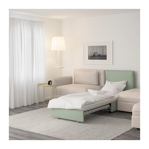 vallentuna 5er sofa mit liege murum beige hillared gr n ikea. Black Bedroom Furniture Sets. Home Design Ideas