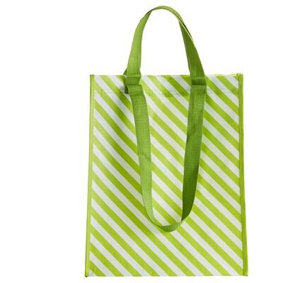 VÅRKÄNSLA Tasche grün gestreift 30 cm 18 cm 38 cm