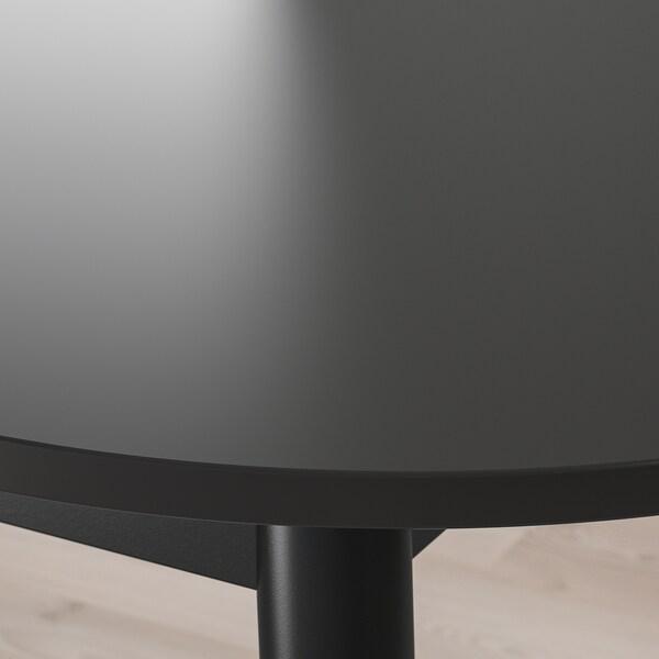 VEDBO Esstisch, schwarz, 160x95 cm