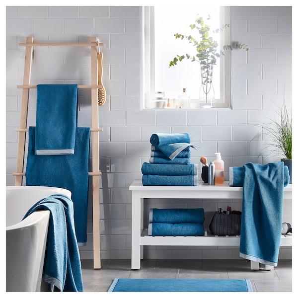 VIKFJÄRD Badetuch blau 140 cm 70 cm 0.98 m² 475 g/m²