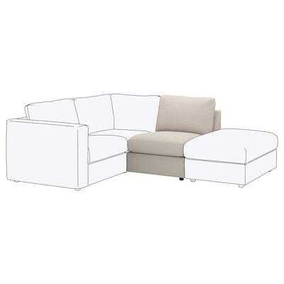 VIMLE Sitzelement 1 Gunnared beige 80 cm 66 cm 71 cm 98 cm 4 cm 71 cm 55 cm 45 cm