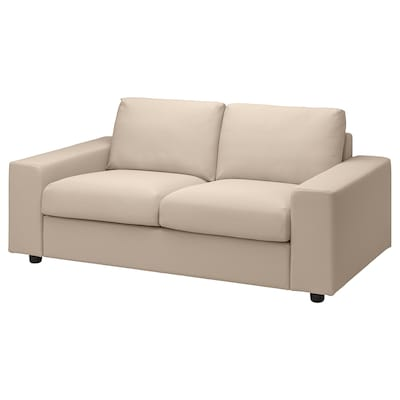 VIMLE 2er-Sofa, mit breiten Armlehnen/Hallarp beige