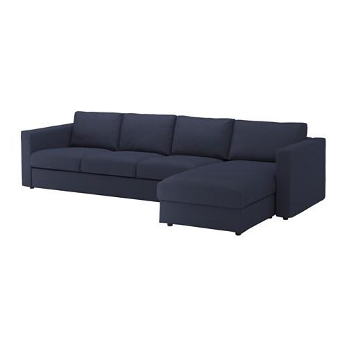 vimle bezug 4er sofa mit r camiere orrsta schwarzblau ikea. Black Bedroom Furniture Sets. Home Design Ideas