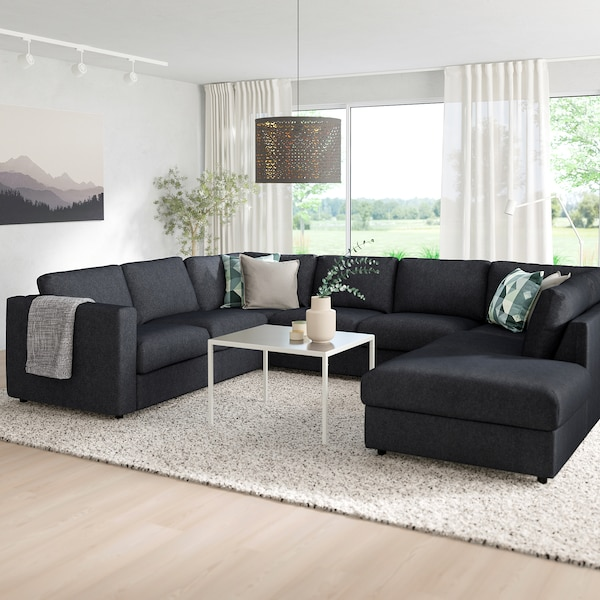 VIMLE Sofa, U-Form/6-sitzig - ohne Abschluss, Tallmyra ...