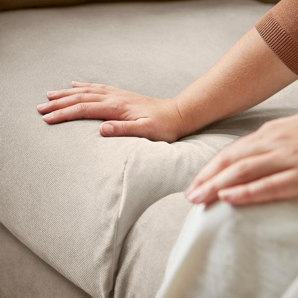 VINLIDEN 3er-Sofa, Hakebo beige