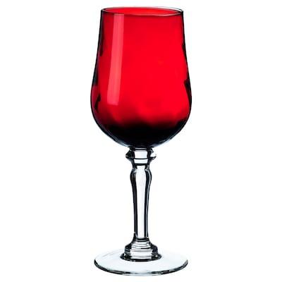 VINTER 2020 Weinglas, Klarglas/rot, 33 cl