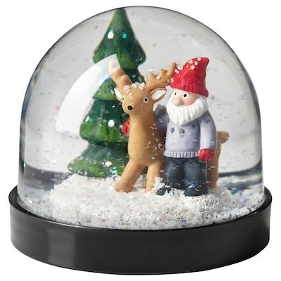 VINTER 2021 Schneekugel, Weihnachtsmann, 8 cm