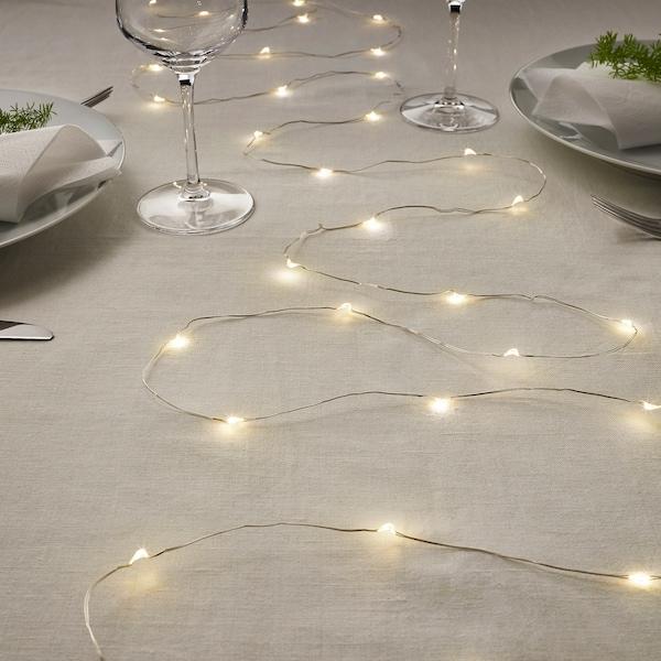 VISSVASS Lichterkette (40), LED, innen/batteriebetrieben silberfarben