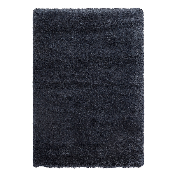VOLLERSLEV Teppich Langflor, dunkelblau, 133x195 cm