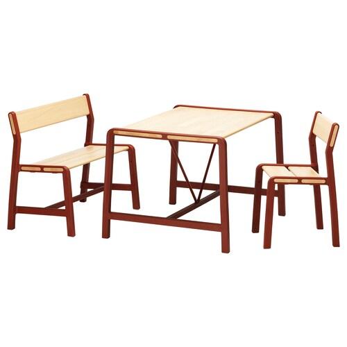 IKEA YPPERLIG Kindertisch mit bank und stuhl