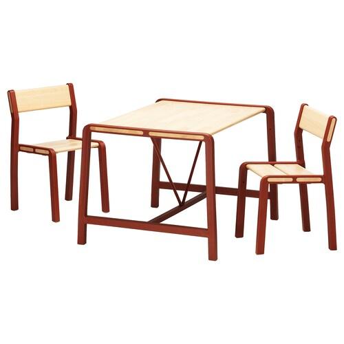 IKEA YPPERLIG Kindertisch mit 2 stühlen