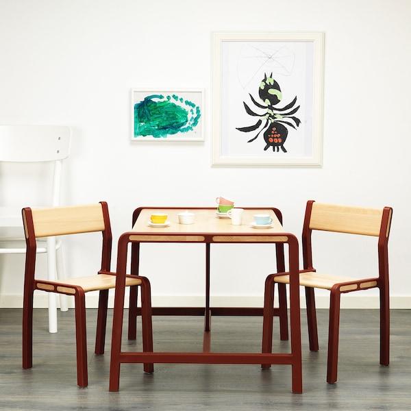 YPPERLIG Kindertisch mit 2 Stühlen