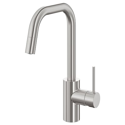 ÄLMAREN Kitchen mixer tap w pull-out spout, stainless steel colour