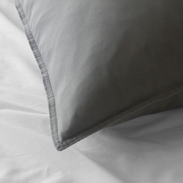 ÄNGSLILJA Pillowcase, grey, 65x100 cm
