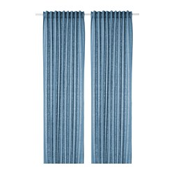 AINA curtains, 1 pair, blue