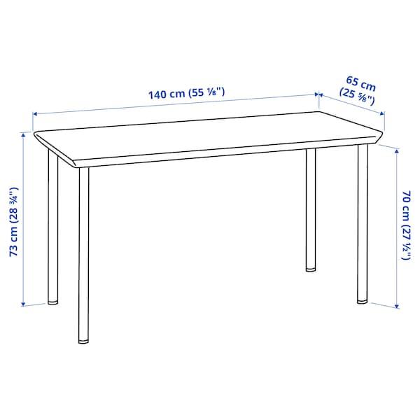 ANFALLARE / ADILS Desk, bamboo/white, 140x65 cm