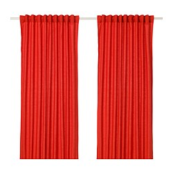 ANNALOUISA curtains, 1 pair, red