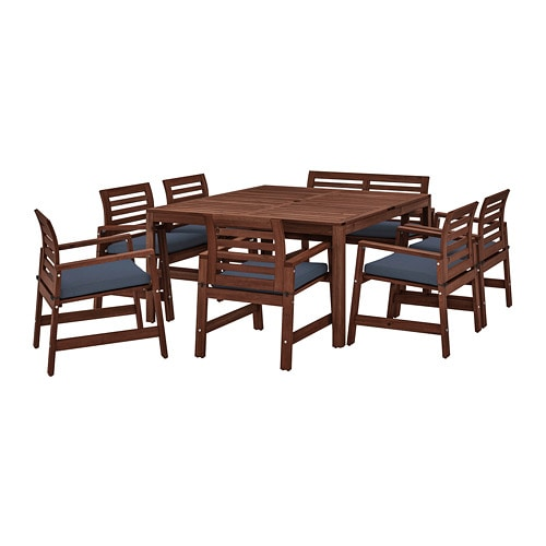 196 Pplar 214 Table 6 Chairs Armr Bench Outdoor 196 Pplar 246 Brown