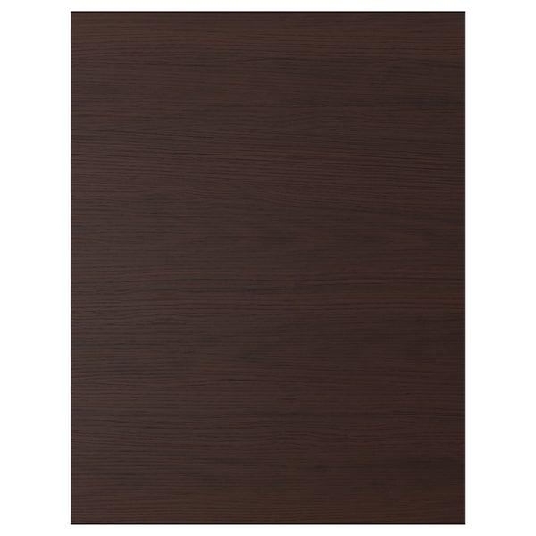 ASKERSUND Cover panel, dark brown ash effect, 62x80 cm