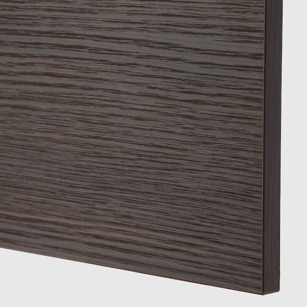ASKERSUND Cover panel, dark brown ash effect, 39x106 cm