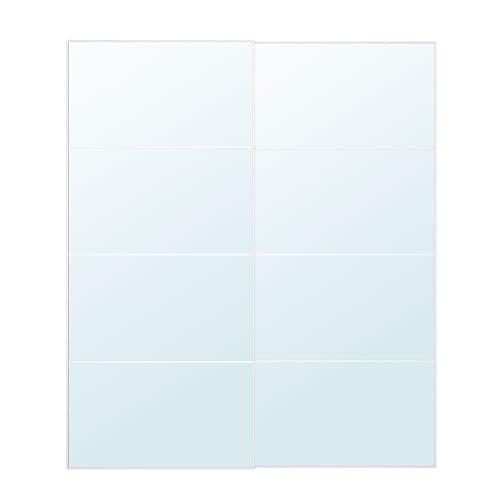 Auli Pair Of Sliding Doors 200x236 Cm Soft Closing Device Ikea