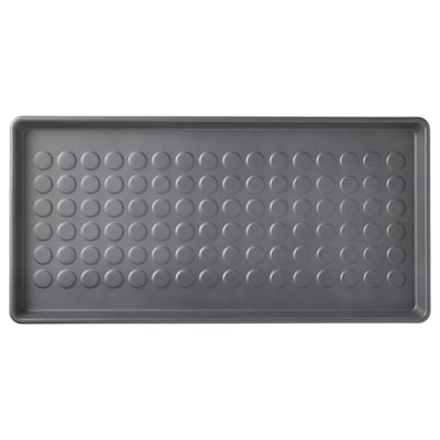BAGGMUCK Shoe mat, in/outdoor/grey, 71x35 cm