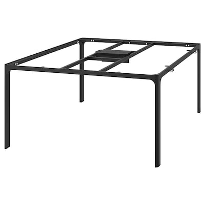 BEKANT Frame for table top, black, 140x140 cm