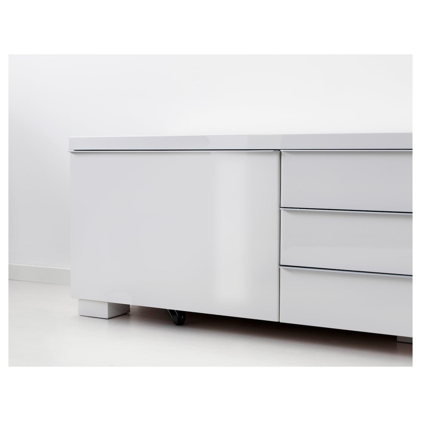 Besta Burs Tv Bench High Gloss White Ikea Switzerland