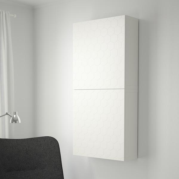 BESTÅ wall cabinet with 2 doors white/Vassviken white 60 cm 20 cm 128 cm