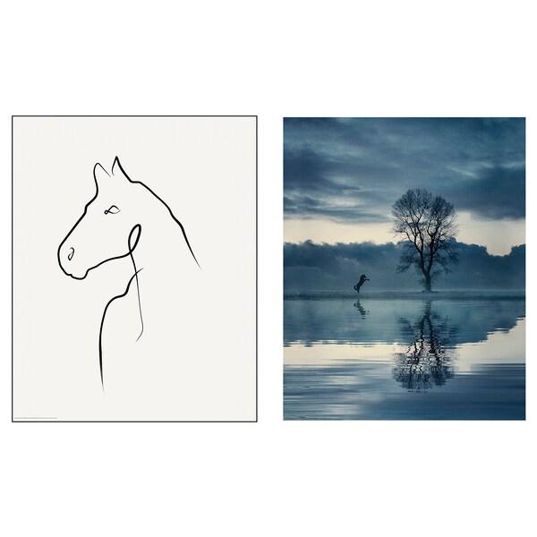 BILD Poster, Horse drawing, 40x50 cm
