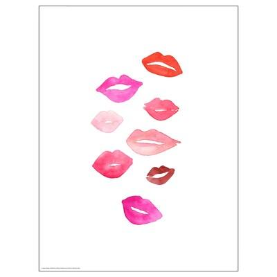 BILD Poster, Lipstick kiss, 30x40 cm