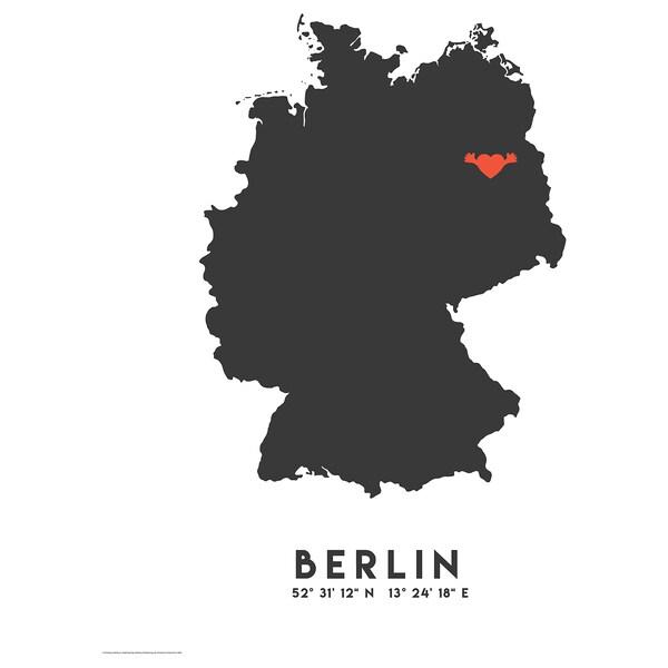 BILD Poster, red heart, Berlin, 40x50 cm