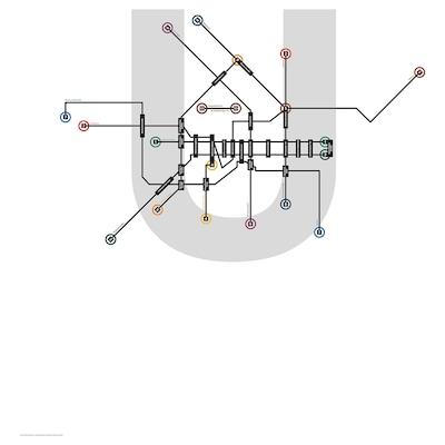 BILD Poster, urban lines, Berlin, 50x70 cm