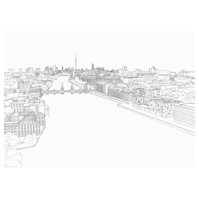 BILD Poster, white skyline, Berlin, 70x50 cm