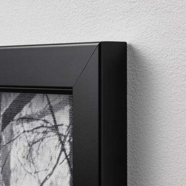 BJÖRKSTA Picture with frame, Sunbeams/black, 200x140 cm