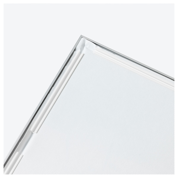 BJÖRKSTA Picture with frame, Vanishing Reflection/aluminium-colour, 78x118 cm